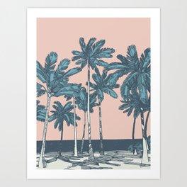 Californian Palms Art Print