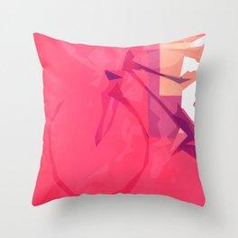 La Donna e La Sua Bici Throw Pillow