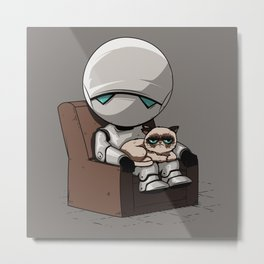 Marvin Grumpy Metal Print