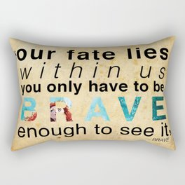 Brave Enough to See It Rectangular Pillow