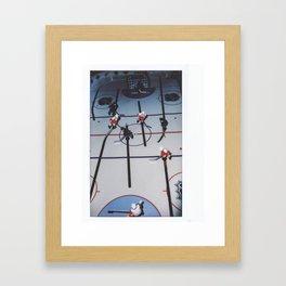 Vintage Hockey table game toy NHL  toronto detroit instant film Framed Art Print