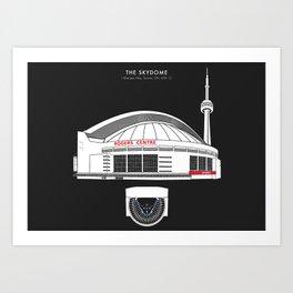 THE SKYDOME - Blue Jays - Toronto  Art Print