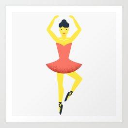Ballet dancer, beloved The Nutcracker Art Print