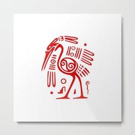 Mayan Ibis Bird Metal Print