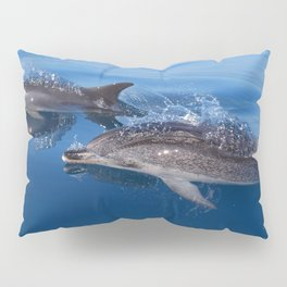 Mother and baby spotted dolphin Pillow Sham