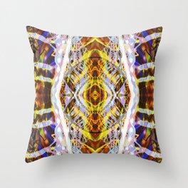 Light Dance Kaleidoscope Edit 2 Throw Pillow