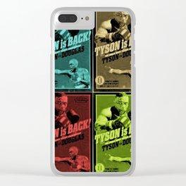 Tyson vs Douglas Pop-Art by Jéanpaul Ferro Clear iPhone Case