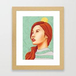 TWICE - Sana Framed Art Print