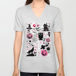 Halloween night Unisex V-Neck