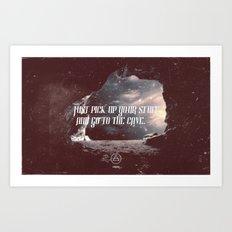 cave 01 Art Print