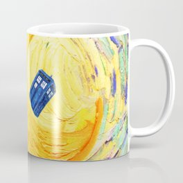 Tardis Flying With Circle Coffee Mug