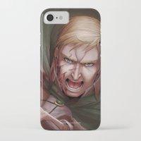 shingeki no kyojin iPhone & iPod Cases featuring Shingeki no Kyojin - Erwin Smith by Paleblood