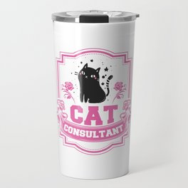 Cat Consultant Professional Adviser Counselor Expert Physician Specialist Gift Travel Mug