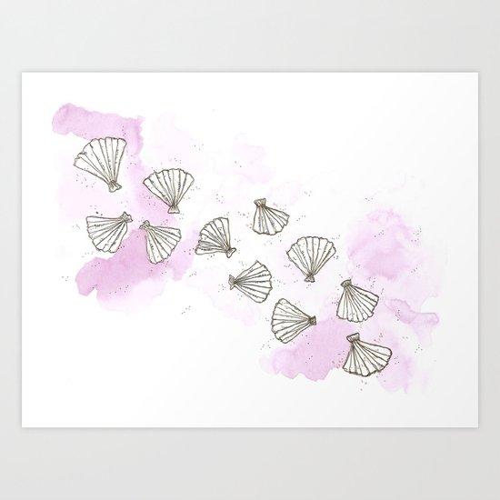 Mermaid Shells Art Print