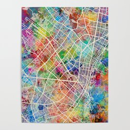 Bogota Colombia City Map Poster