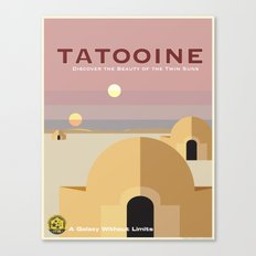 Tatooine - VINTAGE TRAVEL POSTERS Canvas Print