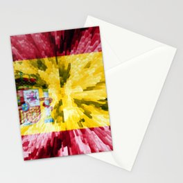 Extruded Flag of Spain Stationery Cards