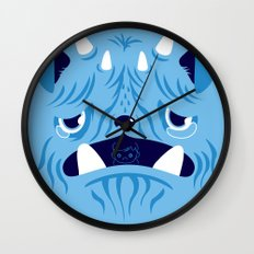 The Bluest Monster Ever :(( Wall Clock