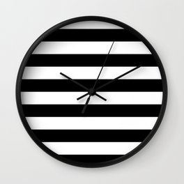 Black & White Stripes- Mix & Match with Simplicity of Life Wall Clock