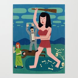 Giant Woman Attack Poster
