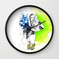 acid Wall Clocks featuring Acid by N.I.S.