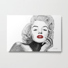 Monroe - Word Art Metal Print