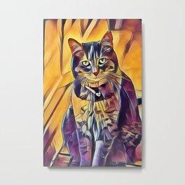 Miss Kitty Metal Print