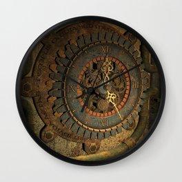 Steampunk, awesome clock, rusty metal Wall Clock