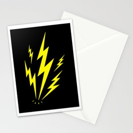 Electric Lighting Bolts Stationery Cards