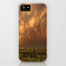 Afterglow - Clouds Glow After Storms at Sunset iPhone Case