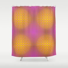 Vasarely style Shower Curtain