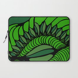 Shell in Abstract Green Laptop Sleeve