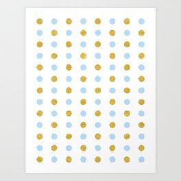 Dalmatian - Blue & Gold Foil #447 Art Print