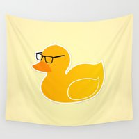 duck Wall Tapestries featuring Duck by Studio14