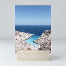 Beautiful Beach in Greece Mini Art Print