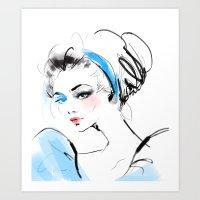 cinderella Art Prints featuring Cinderella  by emametlo