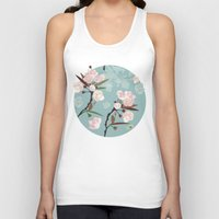 cherry blossoms Tank Tops featuring Cherry-Blossoms by Niloufer
