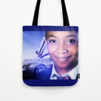 model Tote Bags featuring Model by Azeez Olayinka Gloriousclick