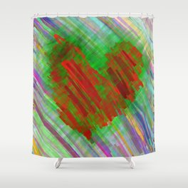 give me all your loving Shower Curtain