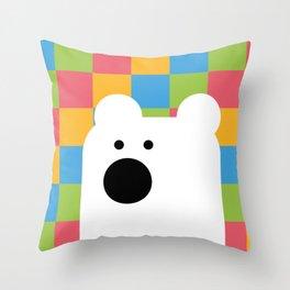 Zedl Ico Bear Throw Pillow