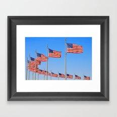Flags Flying Framed Art Print