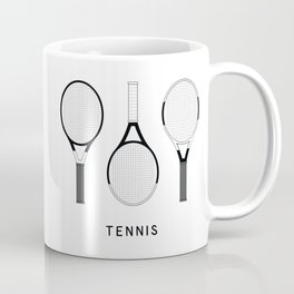 Tennis Rackets set illustrations Coffee Mug