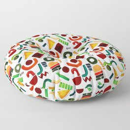Shapes abstract pattern Floor Pillow