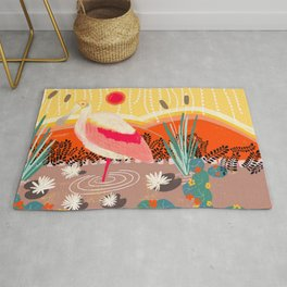 Roseate Spoonbill in the Sunset Rug