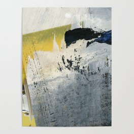 Mellow Yellow Texture Collage Poster