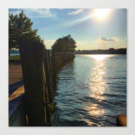 Shimmering Long Dock Park - Beacon NY Canvas Print
