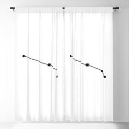 Aries Star Sign Black & White Blackout Curtain