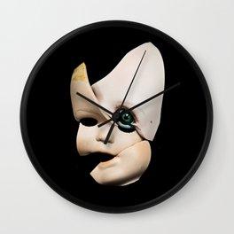 Little Broken Dolly Face - Halloween Wall Clock