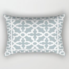 Kirkbride Victorian Ventilation Grille Design Pale Blue Rectangular Pillow