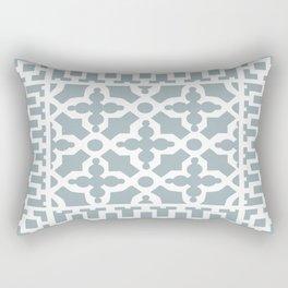 Kirkbride Victorian Ventilation Grille Design Pale Blue Rectangular Pillow